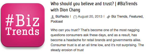 Who should you believe and trust? | #BizTrends with Dion Chang