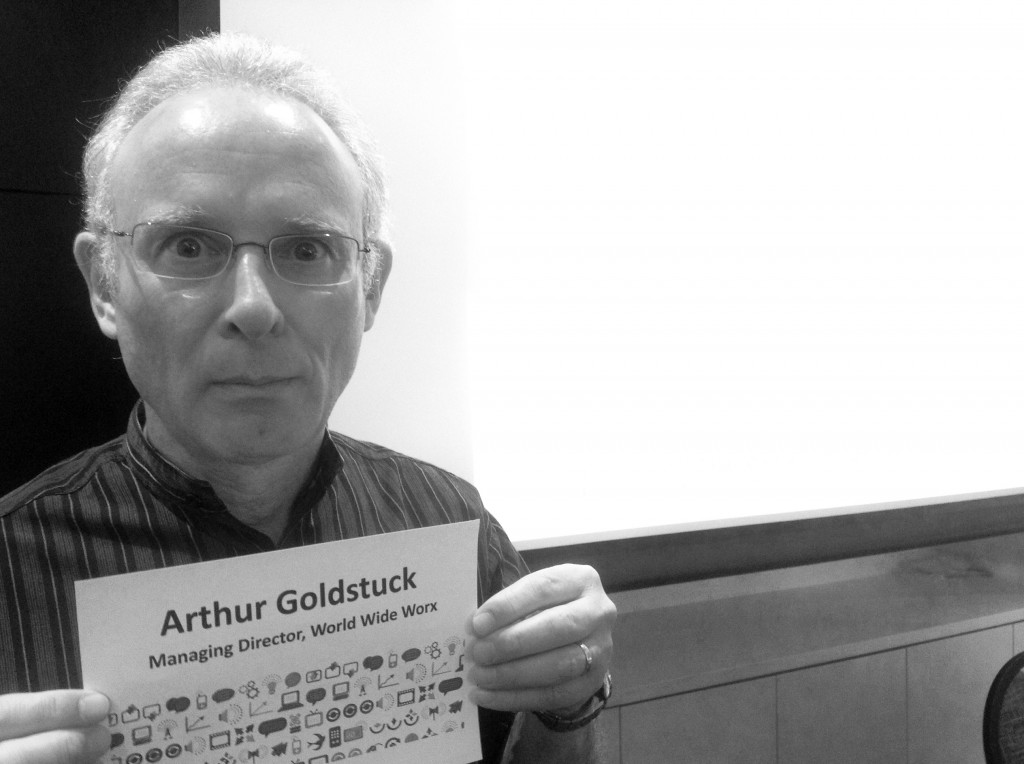 Arthur Goldstuck mugg shot taken at Digibate