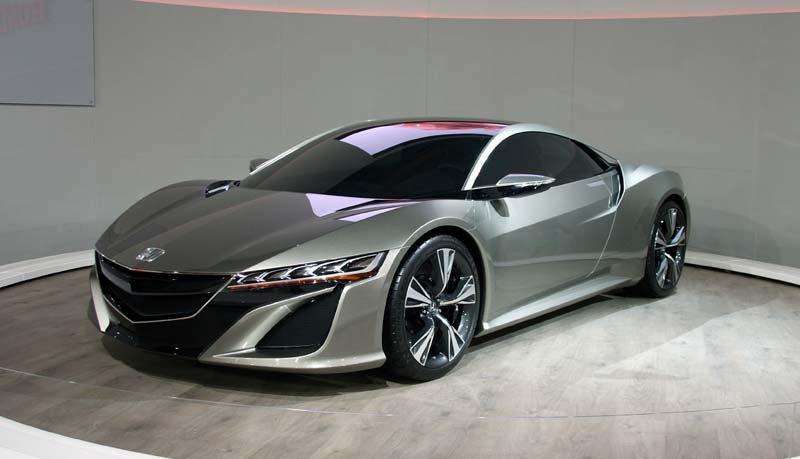 Honda made a bold statement with the NSX Concept, which was possibly the star of the show